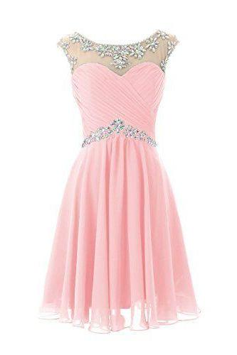 Charming Homecoming Dress,Beading Homecoming Dress,Chiffon Homecoming Dress, Cute Short Prom Dress,PD1700341