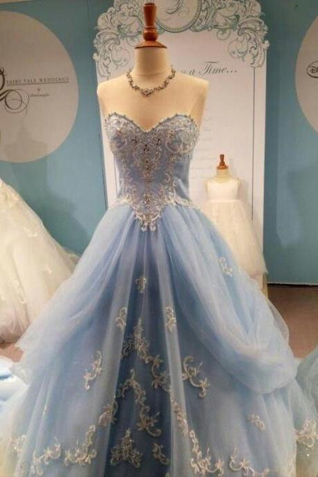 High Quality Prom Dress,Noble Prom Dress,Sweetheart Prom Dress,Tulle Prom Dress,Appliques Prom Dress,PD1700383