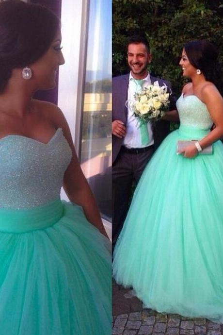 High Quality Prom Dress,Sexy Prom Dress,Sweetheart Prom Dress,Tulle Prom Dress,Beading Prom Dress,PD1700391