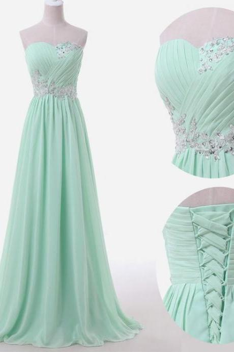 Charming Bridesmaid Dress,Sweetheart Bridesmaid Dress,Chiffon Bridesmaid,Appliques Prom Dress,PD1700406