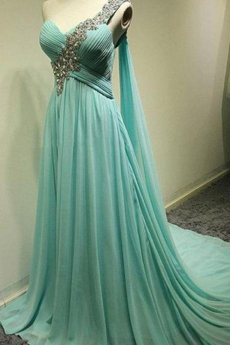 Charming Bridesmaid Dress,One-Shoulder Bridesmaid Dress,Chiffon Bridesmaid,A-Line Prom Dress,PD1700407