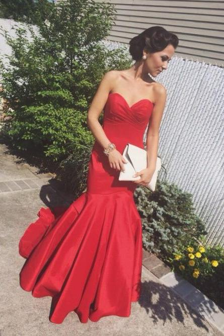 Charming Prom Dress,Satin Prom Dress,Mermaid Prom Dress,Sweetheart Prom Dress,Noble Prom Dress,PD1700437