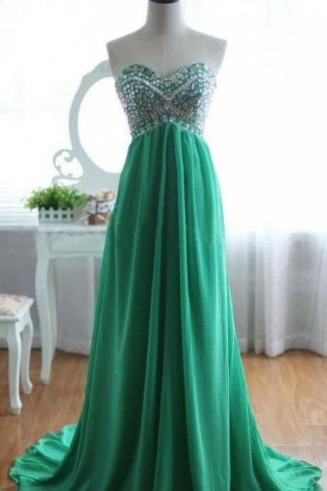 High Quality Graduation Dress,Long Graduation Dress,Chiffon Graduation Dress,Sweetheart Prom Dress,PD1700441