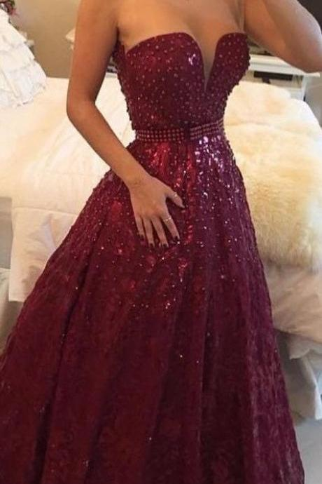 High Quality Prom Dress,Charming Prom Dress,Noble Prom Dress,Beading Prom Dress,Strapless Prom Dress,PD1700457