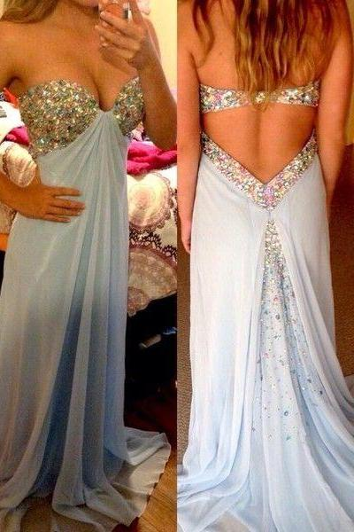 Charming Prom Dress,Sweetheart Prom Dress,A-Line Prom Dress,Sequined Prom Dress,Chiffon Prom Dress,PD1700471
