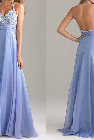 Charming Prom Dress,Sequined Prom Dress,A-Line Prom Dress,Halter Prom Dress,Chiffon Prom Dress,Backless Prom Dress,PD1700499