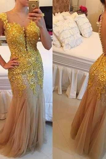High Quality Prom Dress,Charming Prom Dress,V-Neck Prom Dress,Appliques Prom Dress,Ssexy Prom Dress,PD1700537