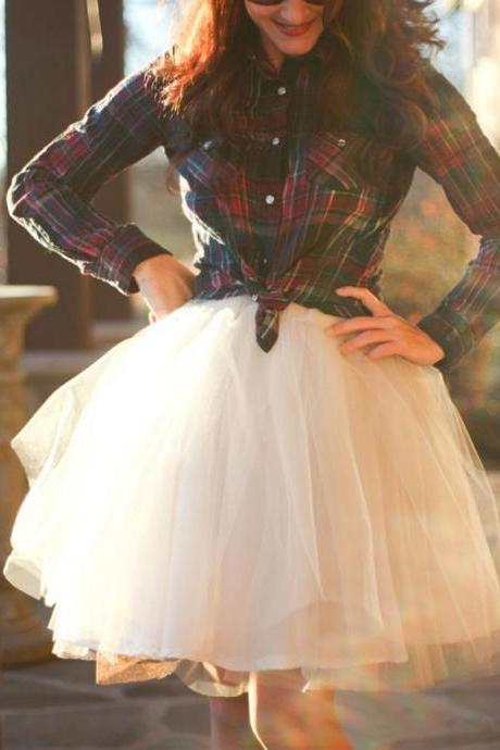 Fashion Skirt, Street Style Skirt,Tulle Skirt,Charming Women Skirt,Spring Autumn Skirt ,A-Line Skirt,PD1700588