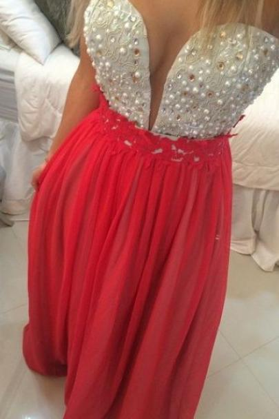 Charming Prom Dress,Beading Prom Dress,Sweetheart Prom Dress,Chiffon Prom Dress,PD1700619