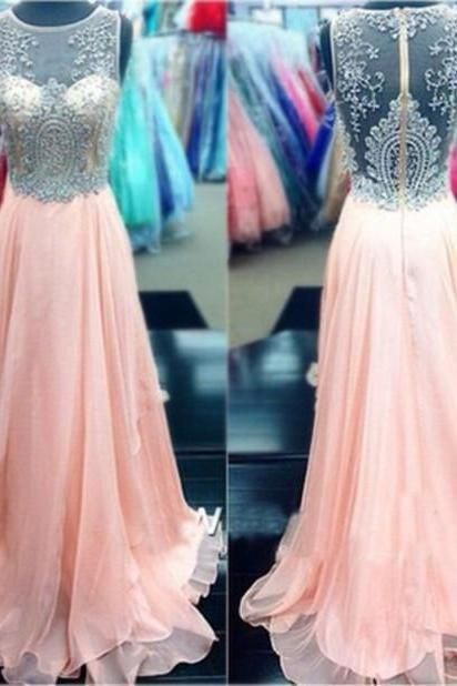 Beading Prom Dress,High Quality Prom Dress,Chiffon Prom Dress,A-Line Prom Dress,PD1700630