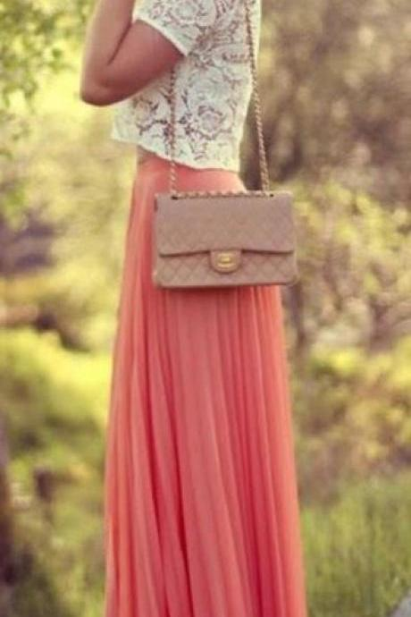 Fashion Street Style Skirt,Tulle Skirt,Charming Women Skirt,Spring Autumn Skirt ,Long Skirt,PD1700632