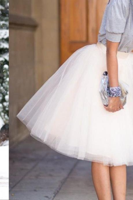 Fashion Street Style Skirt,Tulle Skirt,Charming Women Skirt,Spring Autumn Skirt,PD1700633