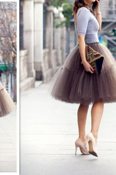 Fashion Skirt,Tulle Skirt,Charming Women Skirt,Spring Autumn Skirt,PD1700635