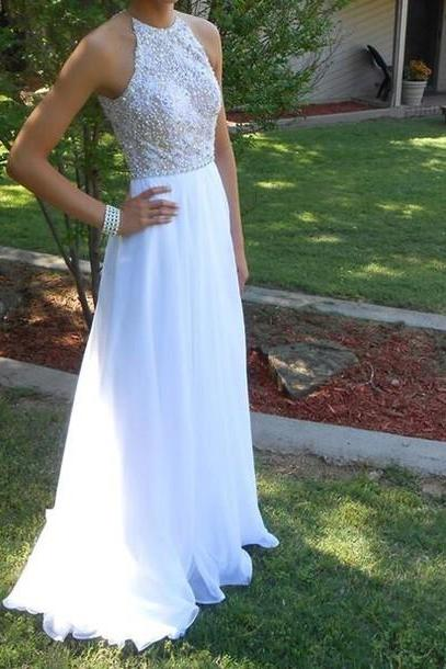 Charming Prom Dress,Chiffon Prom Dress,Beading Prom Dress,A-Line Prom Dress,Floor-Length Prom Dress,PD1700640