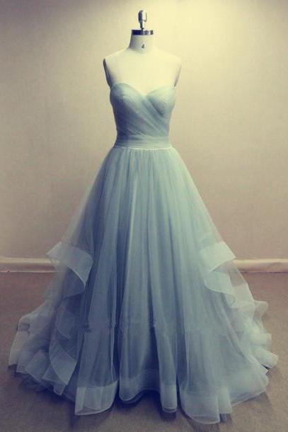 Charming Prom Dress,Tulle Prom Dress,Strapless Prom Dress,A-Line Prom Dress,Long Prom Dress,Brief Prom Dress,PD1700644