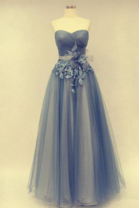 A-Line Prom Dress,Prom Dress With Flowers,Tulle Prom Dress,Sweetheart Prom Dress,PD1700645