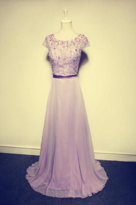 Elegant Evening Dress,A-Line Evening Dress,Beading Evening Dress,Chiffon Evening Dress,PD1700650
