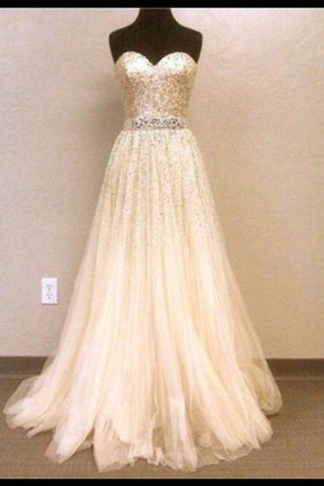 A-Line Prom Dress,Sequined Prom Dress,Sweetheart Prom Dress,Dress For Prom,PD1700688