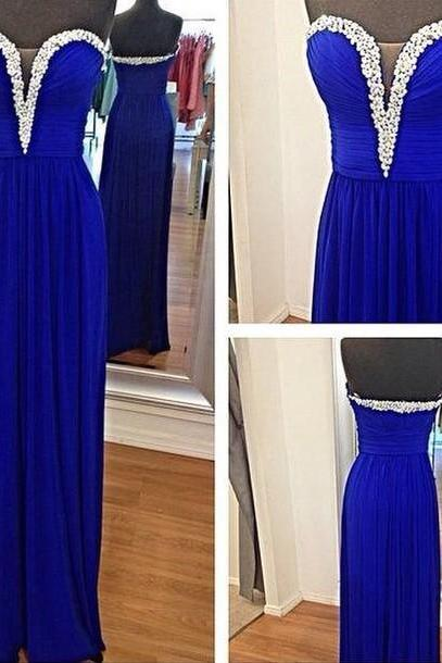 Sweetheart Prom Dress,Chiffon Prom Dress,Long Prom Dress,A-Line Prom Dress,PD1700691