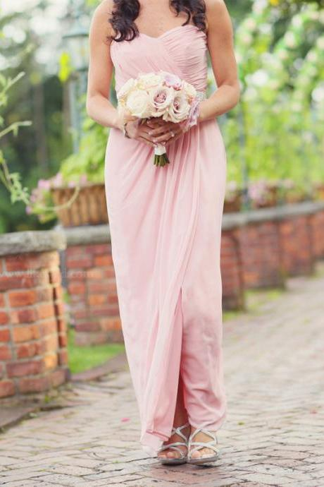 Brief Bridesmaid Dress,Chiffon Bridesmaid Dress,Long Bridesmaid Dress,PD1700704