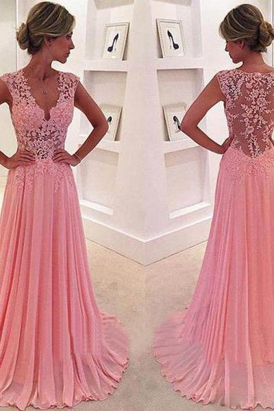 Peach prom dresses, See through prom dresses, lace prom dresses, sexy prom dresses, off shoulder prom dresses,PD1700779