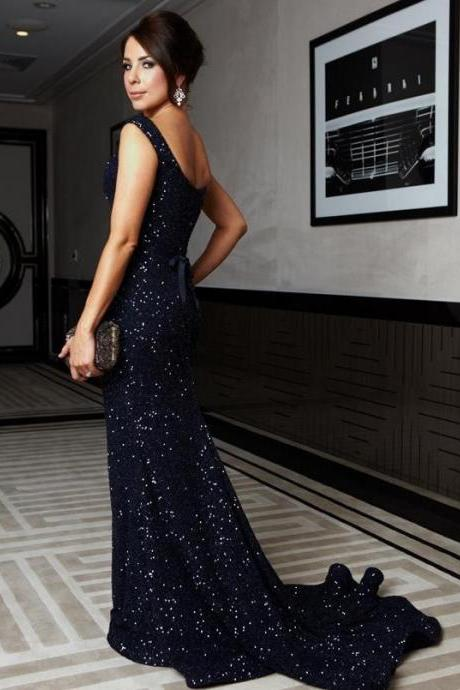 New Arrival Prom Dresses, Stunning Sequins Prom Dress, Navy Blue Prom Gown, Charming Prom Dress, Elegant Formal Dress, Woman Evening Dress,PD17007778