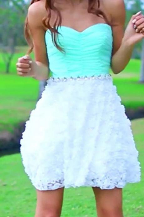 Mint Sweetheart Simple Cheap Homecoming Dresses,Party Dresses,Graduation Dresses,PD160811