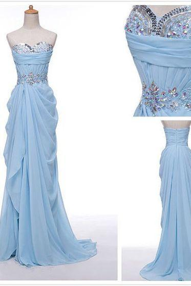 CCharming Prom Dress,Chiffon Prom Dress,Sweetheart Prom Dress,Beading prom Dress,A-Line Evening Dress,PD160850