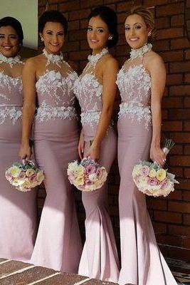 lace bridesmaid dress, long bridesmaid dress, dusty purple bridesmaid dress, modest bridesmaid dress,PD887