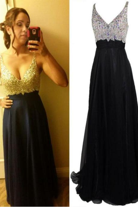 Prom Dresses,A-line Prom Dresses,Sparkle Prom Dresses,Backless Prom Dresses,Luxury Prom Dresses,Beaded Prom Dresses,Long Prom Dresses,Black Prom Dresses,Dresses for Prom,PD898