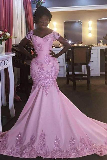 Prom Dress,Sexy Prom Dress,Cap Sleeve Prom Dress,Gorgeous Prom Dress,Stunning prom Dress,Mermaid Prom Dress,Handmade Prom Dress,PD916