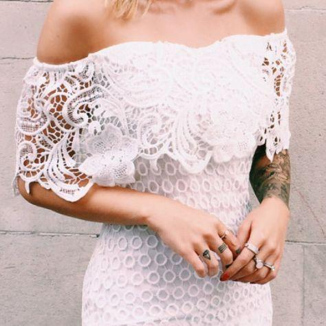 White prom dress, Mermaid short prom dress,off shoulder prom gown,lace homecoming gowns