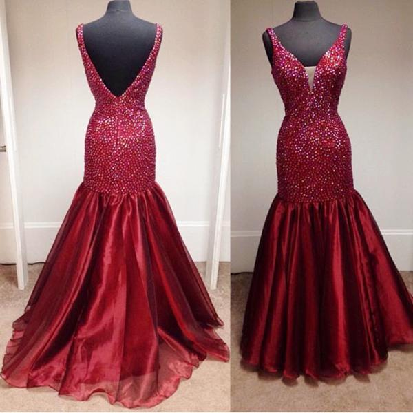 New Arrival Prom Dress,Modest Prom Dress,wine red prom dress,royal blue prom dress,mermaid burgundy prom dress