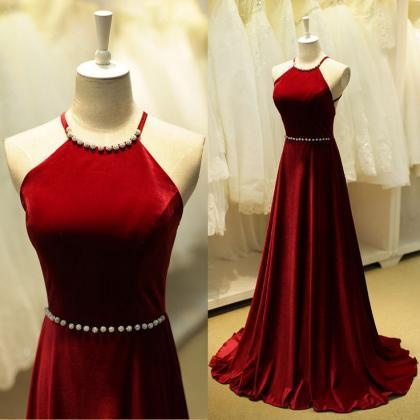 High Quality Prom Dress,A-Line Prom Dress,Satin Prom Dress,Halter Prom Dress, Backless Prom Dress,PD1700185
