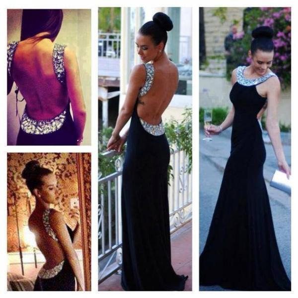 High Quality Prom Dress,Mermiad Prom Dress,O-Neck Prom Dress,Sexy Backless Prom Dress, Beading Prom Dress,PD1700331