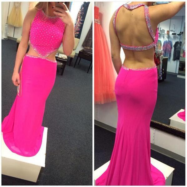 High Quality Prom Dress,Mermiad Prom Dress,Halter Prom Dress,Sexy Backless Prom Dress,Beading Prom Dress,PD1700333