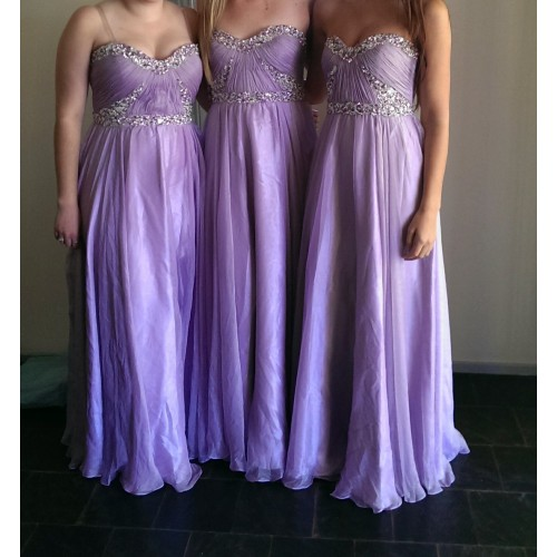 Charming Bridesmaid Dress,Strapless Bridesmaid Dress,Chiffon Bridesmaid,A-Line Prom Dress With Sequined,PD1700413