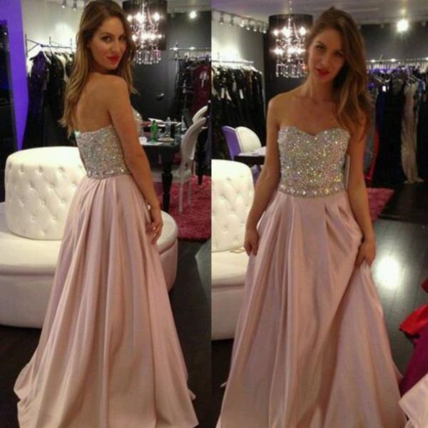 Charming Prom Dress,Sequined Prom Dress,A-Line Prom Dress,Strapless Prom Dress,Chiffon Prom Dress,PD1700501