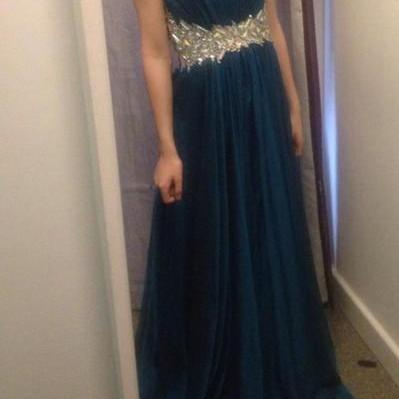 Charming Prom Dress,Crystal Prom Dress,A-Line Prom Dress,Chiffon Prom Dress,Strapless Prom Dress,PD1700563