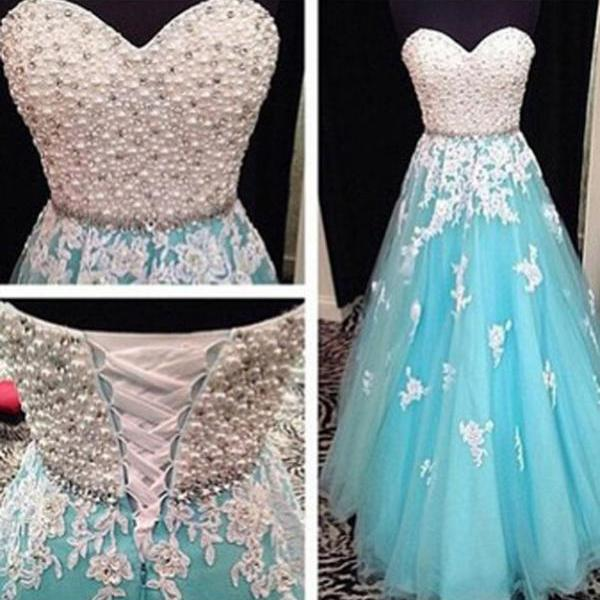 Sweetheart Prom Dress,Beading Prom Dress,Appliques Prom Dress,A-Line Prom Dress,PD1700667