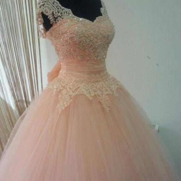 Long Ball Gown Prom Dresses,Pink Ball Gown,cheap prom dress,sweetheart prom dress, unique prom dress, gorgeous prom dress, PD160823